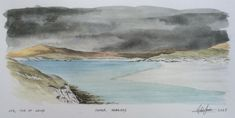 How to sketch a seascape. Watercolor Sketch, Watercolor Landscape, Outer Hebrides, Sketching, Scotland, Videos, Outdoor, Outdoors, Watercolor Landscape Paintings