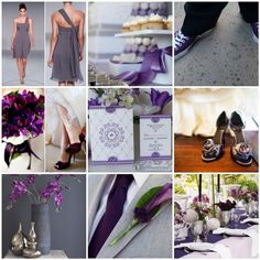 fun tones of gray and purple