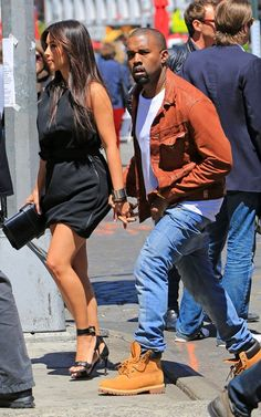 Spotted: Kanye West & Kim Kardashian Hit The Streets Of NY