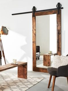 Create the perfect mirror sliding barn door for your style and vision. Contact our design team and get started on your own mirror barn door today. The Doors, Entry Doors, Patio Doors, Interior Barn Doors, Contemporary Decor, Contemporary Couches, Modern Decor, House Design, Interior Design