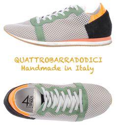 NIB $195 QUATTROBARRADODICI HANDMADE IN ITALY FASHION SNEAKERS. SZ EU38/US8 M #Quattrobarradodici #Fashionsneakers