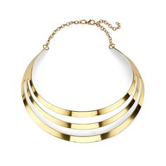 Gladiator-inspired plated gold cutout choker necklace sure to flatter any collarbone. $12.99! Add to your bag now!