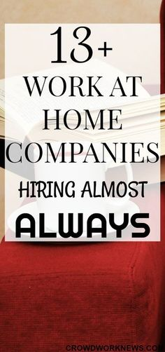 Work at Home Companies Hiring Almost Always Finding a work at home job is a BIG challenge, but it can be easy if you know which companies hire frequently for these roles. Check out this awesome list of work at home companies which are hiring almost Work From Home Companies, Work From Home Opportunities, Career Options, Career Advice, Earn Money From Home, Way To Make Money, Making Money From Home, Quick Money, Money Today