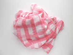 This muslin swaddle blanket is a perfect blend of silky soft bamboo and cotton. This blend of natural fabrics offers a wonderfully breathable blanket that can be used as a swaddle, scarf, nursing cover, burp cloth, and more. Each blanket is hand painted with a water based paint that is beautifully vibrant with the permanence and soft hand of a dye. Each blanket is made to order, so each is unique and completely one of a kind. I use only high quality paints and use a multistep process to…