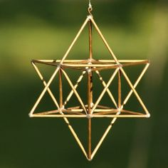 MerKaBa brass handmade sacred geometry by Mownart on Etsy, $52.00
