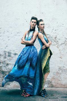 cara delevigne Blue beauties in VOGUE AUS