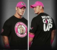 John Cena, not only a great wrestler but a humanitarian also. He is the top star in the Make A Wish Foundation and has helped the WWE raise over one million dollars for breast cancer research.