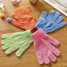 Beauty & Health Hearty 4pcs Exfoliationg Gloves Bath And Shower Cleansing Smooth Soft Face Legs Body Hot Seling Bath