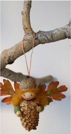Too cute NOT to pin!!    (If too hard, could omit the arms.) (Diy Ornaments Rustic)