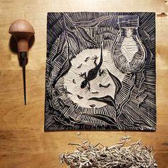 Linocut Prints, Art Prints, Hand Carved, I Shop, Handmade Items, Carving, Stamp, The Originals, Paper