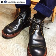 "1,594 Me gusta, 7 comentarios - Red Wing Japan (@redwingjapan) en Instagram: ""#Repost @nigelcabournjapan ・・・ [顧客様の私物] Nigel Cabourn ✖️RED WING MUNSON CHUKKA B-5 着用期間:二ヶ月…"""