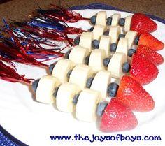 Festive 4th of July Rocket Snacks for Kids
