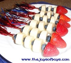 Festive 4th of July Rocket Snacks for Kids