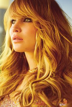 Jennifer Lawrence on the cover of ELLE 2012...stunning hair and lashes!
