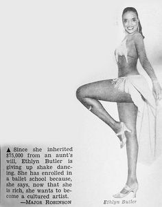 Shake Dancer Ethlyn Butler Wants to Become A Cultured Artist - Jet Magazine, September 30, 1954 by vieilles_annonces, via Flickr