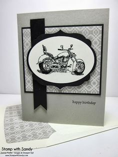 Stamp With Sandy: Motorcycle Birthday for The Paper Players, Stampin' Up