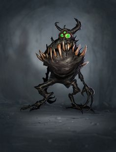 Cute but slightly scary monster art