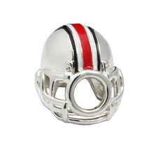 Here is an Ohio State Buckeyes Pandora charm helmet. A Buckeye's helmet on your Pandora bracelet, now we are talking O.H.- I. Ohio State Football Helmet, Buckeyes Football, Ohio State Buckeyes, Football Helmets, College Football, Ohio State Gifts, Coaches Wife, Ohio State University, 3 D