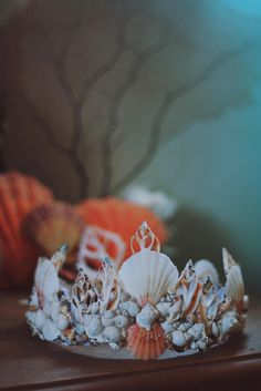 The Dreamer Mermaid Crown by Wild & Free Jewelry. Handmade in Santa Barbara, California. Seashell Crown, Shell Crowns, Mermaid Crown, Mermaid Shell, Mermaid Headpiece, Mermaid Jewelry, Paperclay, Tiaras And Crowns, Wild And Free