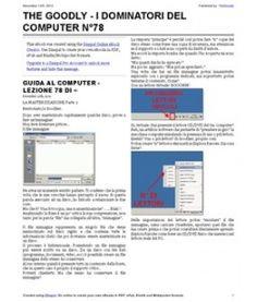Lezione 78 (PDF) - LA MASTERIZZAZIONE PARTE 2. Cos'è un file immagine e come utilizzarlo al meglio evitando di masterizzare un disco.