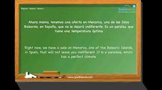 """En la agencia de viajes"". Aprende español. Nivel intermedio. www.speakeando.com"