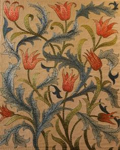 Embroidered panel designed by May Morris, Morris & Co 1890s
