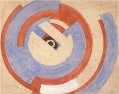 Frantisek Kupka Cercle bleu et rouge / Blue and red circle Gouache sur papier / Gouache on paper 29.5 x 36.5 cm 1933 - 1934