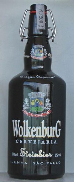 Cerveja Wolkenburg Steinbier, estilo Specialty Beer, produzida por Cervejaria Wolkenburg, Brasil. 8% ABV de álcool.