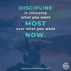 So true! Discipline is correlated with what is important to an individual. You have to focus on the future to build the one you want in life. Business Motivational Quotes, Global Business, To Focus, Entrepreneur, Success, Future, Life, Future Tense