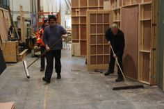 Getting ready to move the Present Laughter set (2013)