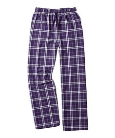 Another great find on #zulily! Purple & White Plaid Flannel Pajama Pants - Women & Plus #zulilyfinds