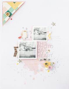 #papercrafting #scrapbook #layout: This photo has my heart by marivi at @studio_calico