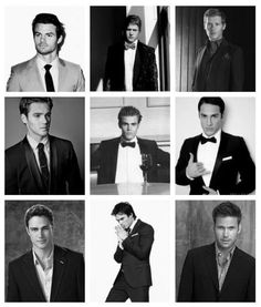 TVD men; from top left to bottom right:  Daniel Gillies, Zach Roerig, Joseph Morgan, Steven R. McQueen, Paul Wesley, Michael Trevino, Taylor Kinney, Ian Somerhalder and Matt Davis!