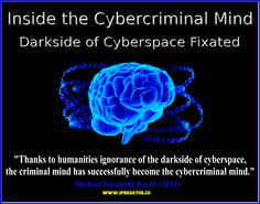 """Inside the Criminal Mind is Inside the Cybercriminal Mind Visit Dark Psychology to read Dr. Nuccitelli's cybercriminal mind post thanking Dr. Samenow for quoting him in his revised book """"Inside the Criminal Mind"""".  https://darkpsychology.co/cybercriminal-minds/"""