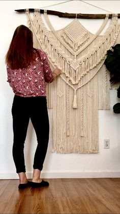Your place to buy and sell all things handmade Macrame Wall Hanging Diy, Hanging Wall Art, Wall Hangings, Beautiful Wall, Sell On Etsy, Boho Decor, Handmade, Crafts, House