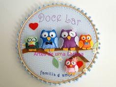 Doce Lar Família Corujas by Artes de uma Larissa, via Flickr