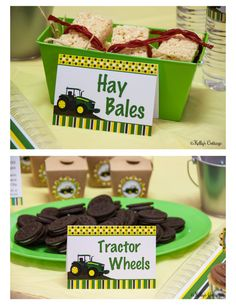Welcome to Kellys Cottage Shoppe Designs!    This listing includes BLANK flat and folded party labels from our Tractor Collection, PLUS our