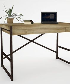 Salvaged Oak Laptop Desk by Emery #zulily #zulilyfinds
