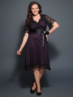 Stretch scalloped lace gently skims over your curves for a delightfully comfortable fit.