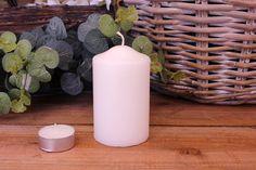 Κεριά Κυλινδρικά Λευκά Φ6x10εκ Pillar Candles, Taper Candles