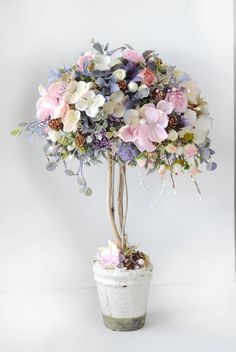 Clay Flowers, Dried Flowers, Paper Flowers, Topiary Centerpieces, Sweet Pea Flowers, How To Preserve Flowers, Flowering Trees, Flower Patterns, Floral Arrangements