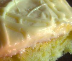 LEMON DROP Cake Plus a Little Frosting Secret. - so easy and it just amps up a normal boxed lemon cake mix!.....