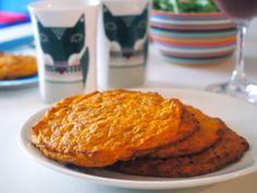 Porkkanarieskat sopivat hyvin refluksikon aamiaispöytään, kun jättää pippurin pois. #refluksi #porkkana #hiivaton #maidoton