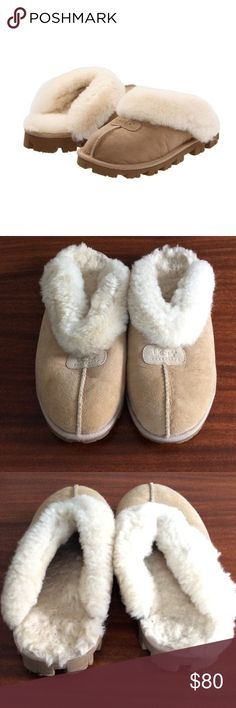 UGG Coquette Tan Slipper Clogs