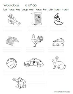 Klankbou VB4 Grade R Worksheets, Worksheets For Kids, Dream Quotes, Love Quotes, Inspirational Quotes, Career Quotes, Success Quotes, Afrikaans Language, Self Improvement Quotes