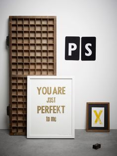 Poster just Perfekt Gold - Vorstin - BijzonderMOOI* - Dutch design