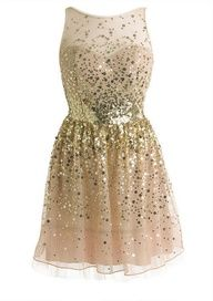 Light pink dress with gold sequins - Pink and gold, two things I don't like, but I like this!