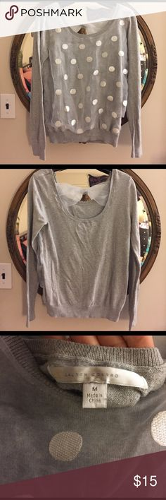 LC by Lauren Conrad Sweater Super cute lace sweater with a bow and slightly open back LC Lauren Conrad Sweaters Crew & Scoop Necks