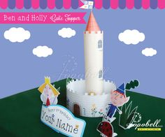 Ben and Holly Cake Topper for Ben and Holly's Little Kingdom Birthday Party. Personalized DIY Printables for Ben & Holly Cake Centerpiece. by Popobell on Etsy https://www.etsy.com/listing/194469998/ben-and-holly-cake-topper-for-ben-and