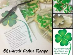 Shamrock Sugar Cookies for St. Patricks Day. (with poem)